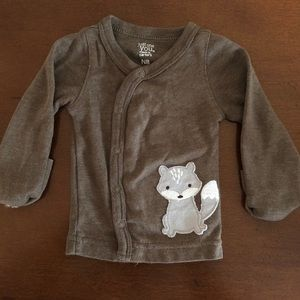 Carter's Newborn fox cardigan